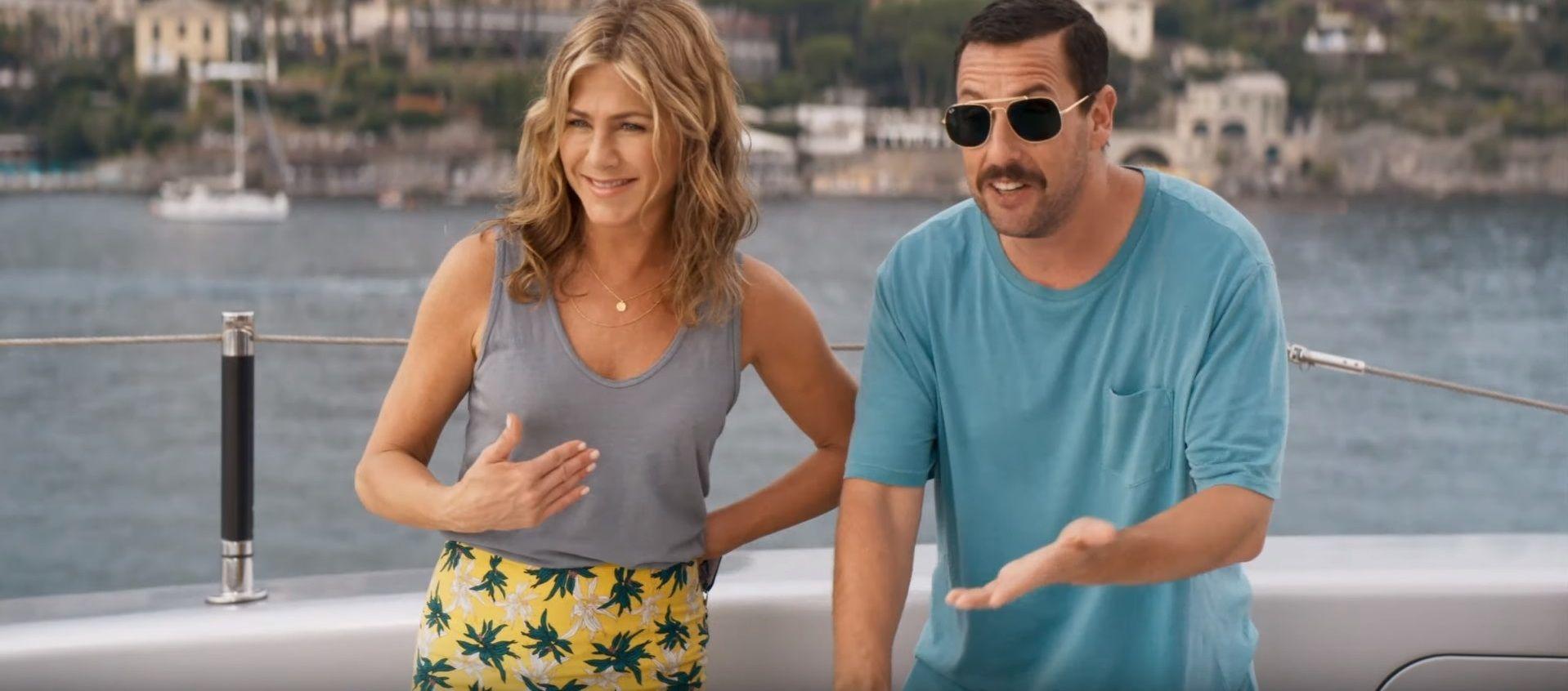 Vuelve la desopilante dupla de Jennifer Aniston y Adam Sandler con Misterio a bordo