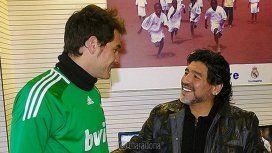 El mensaje de Diego Maradona para Iker Casillas, operado por un infarto en medio de un entrenamiento