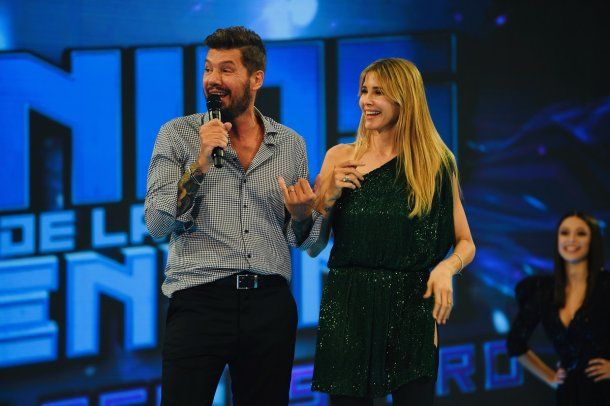 Marcelo Tinelli y Guillermina Valdes (gentileza La Flia - Jorge Luengo)