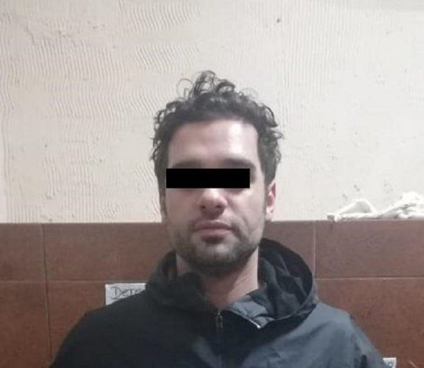 El hombre que acosó a Alfano (gentileza Policía de la Ciudad)<br>