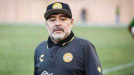 Diego Maradona llegó al país y apoyó la candidatura de Alberto Fernández