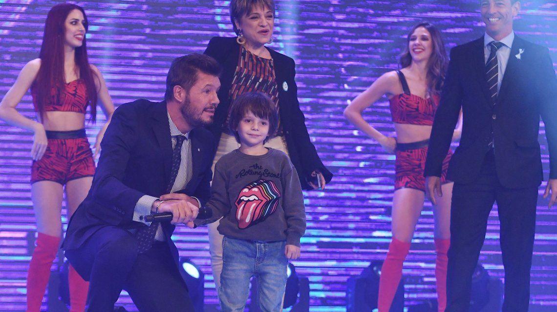 Lorenzo, el hijo menor de Marcelo Tinelli, apareció por primera vez en TV
