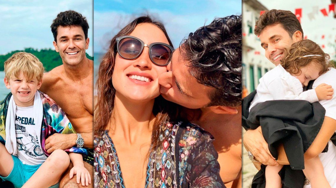 Las vacaciones con familia ensamblada de Mariano Martínez en Brasil