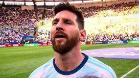 Messi cantó el himno como nunca: los memes