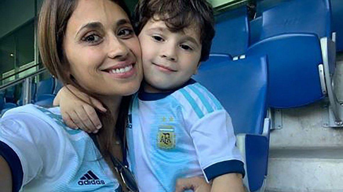 VIDEO: Mateo Messi, indomable en la previa del partido de la Selección