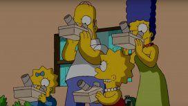 Los Simpson adelantaron qué pasa si mirás el eclipse de Sol sin protección