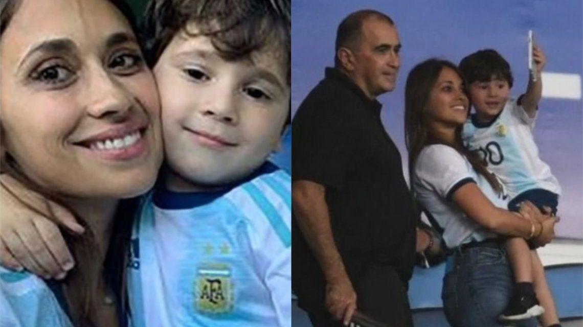 Las travesuras de Mateo Messi en la semifinal de Argentina contra Brasil