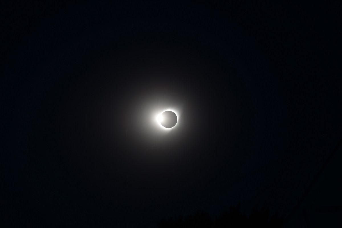 Durante el eclipse se realizó un videoclip (gentileza Telam)