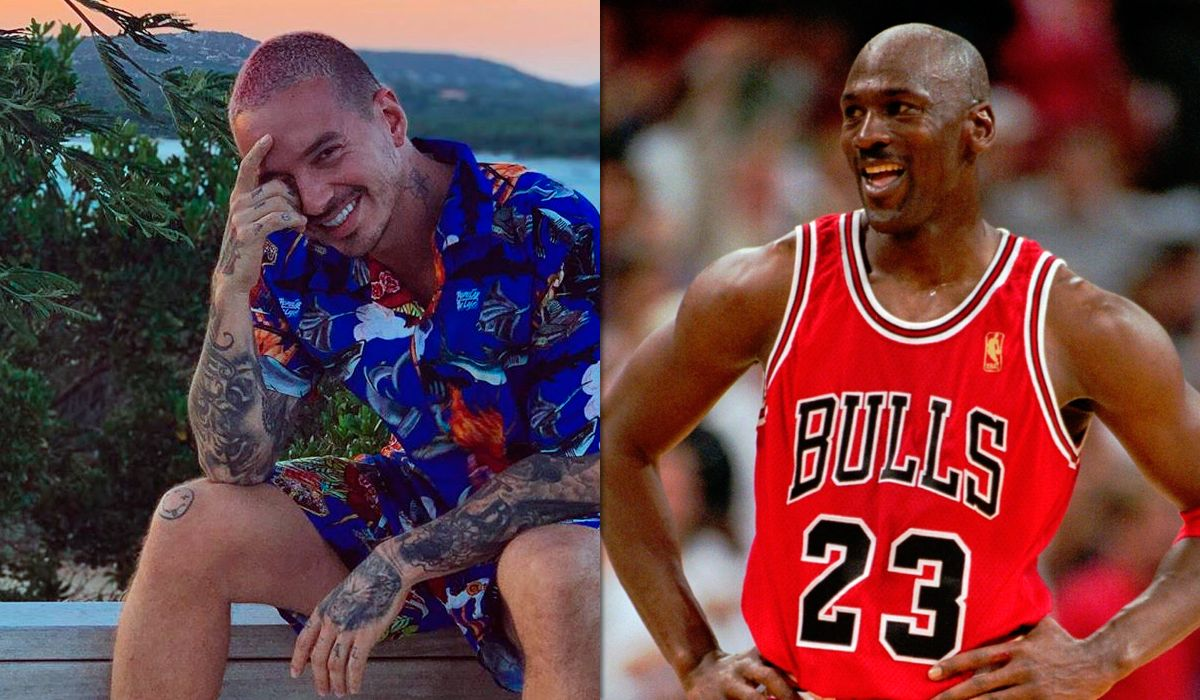 La envidia de muchos: la foto de J Balvin con Michael Jordan