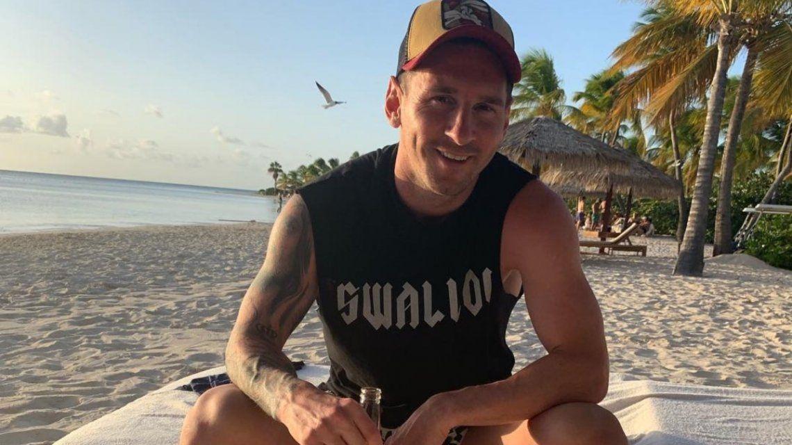 El guiño de Lionel Messi a Harry Potter en su look de vacaciones