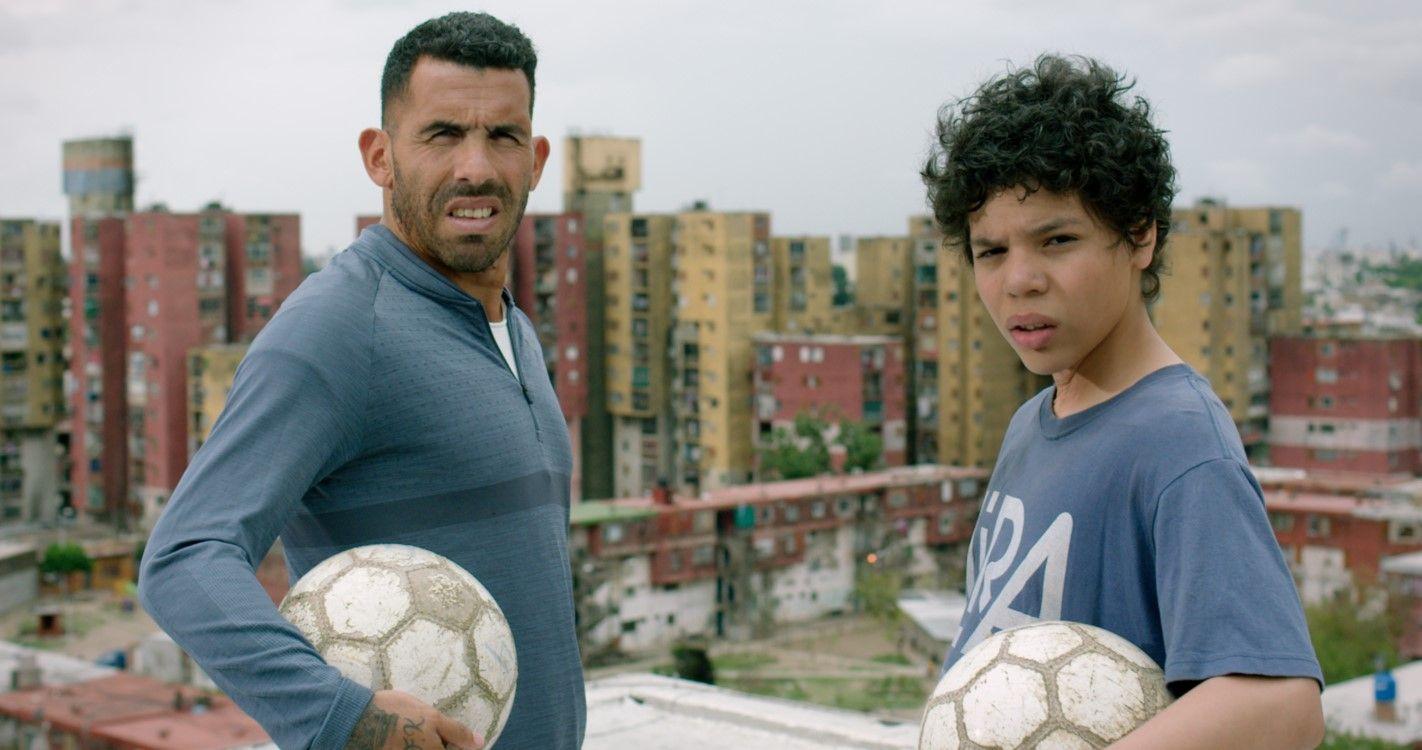 Carlos Tevez y Balthazar Murillo (gentileza Netflix)