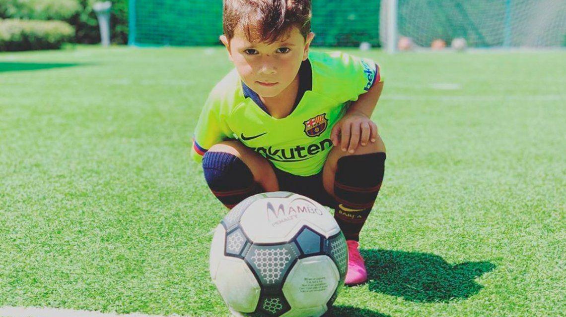 Mateo Messi cumple años y lo festejó imitando a su papá
