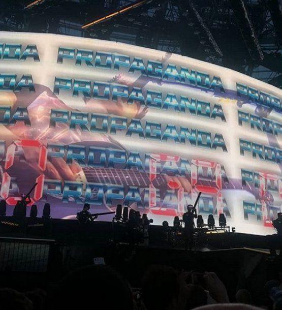 El nuevo show de Muse cuida el concepto que pretende brindar hasta el mínimo detalle (foto RatingCero.com)