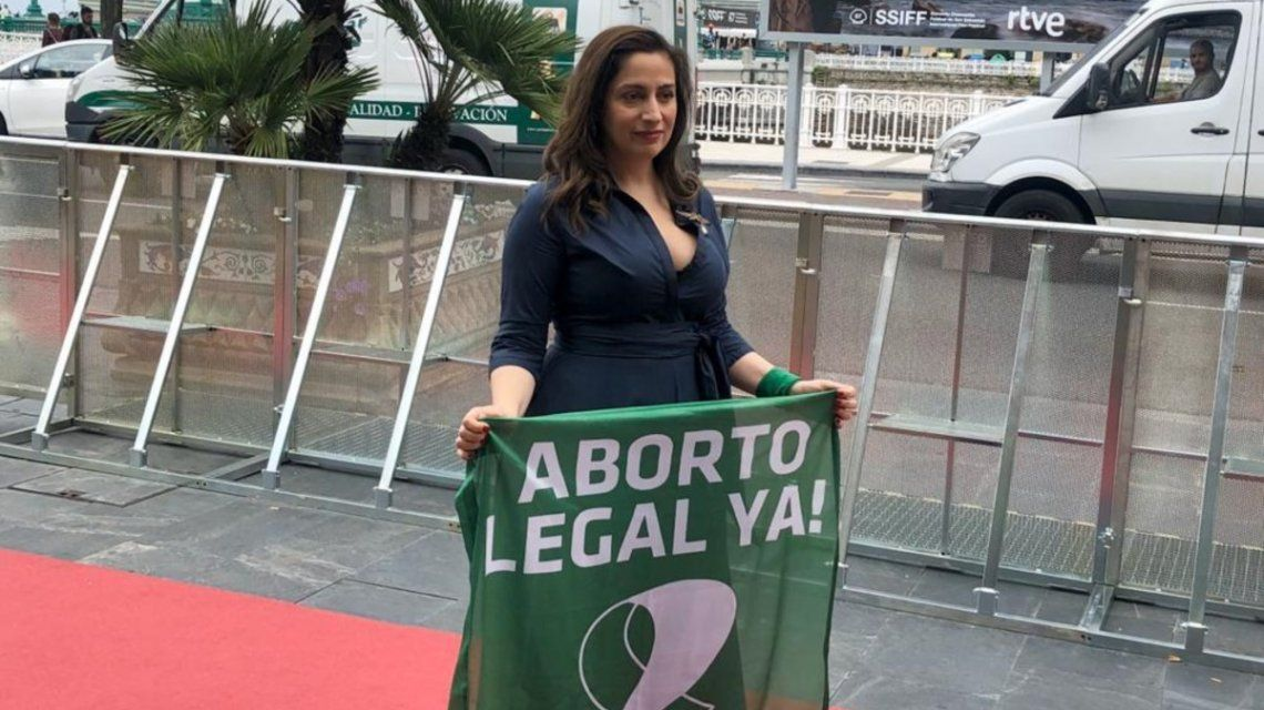 Muriel Santa Ana, ovacionada en San Sebastián por su discruso sobre el aborto