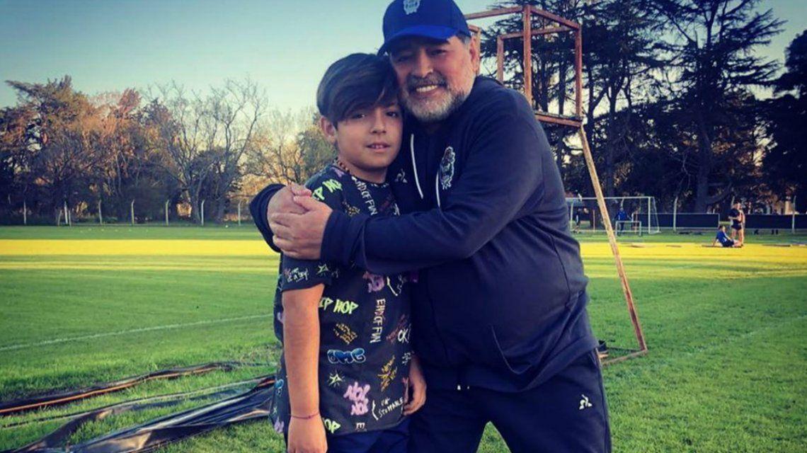 Así fue el reencuentro entre Diego Maradona y su nieto Benjamín: qué dijo Dalma y cómo reaccionó Claudia