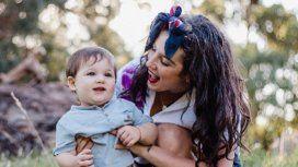 La última foto de Juana Repetto amamantando a su hijo de tres años