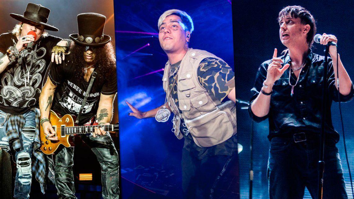 Se confirmó el lineup del Lollapalooza 2020: Guns N Roses y The Strokes encabezan la lista