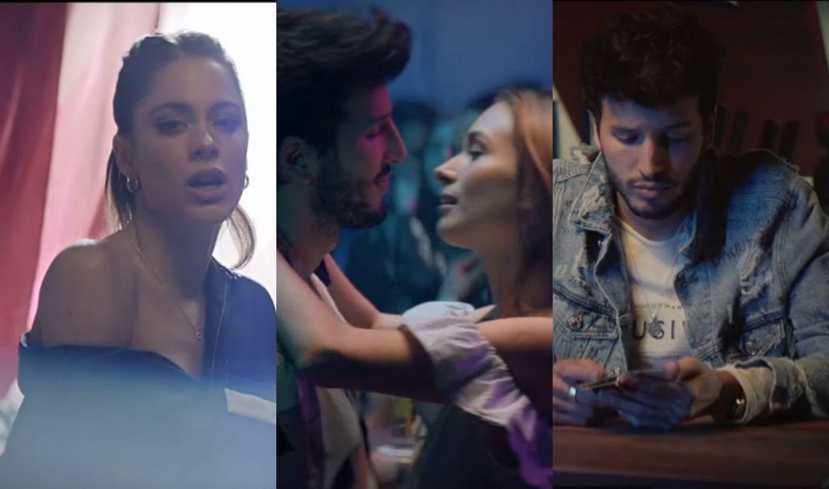 Tini Stoessel y Sebastián Yatra estrenaron el video de Oye: el beso del cantante con otra mujer