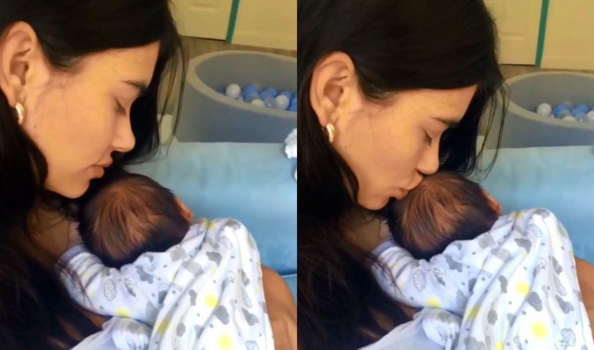 El video más tierno de Eva De Dominici con su hijo recién nacido
