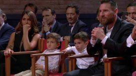 El show aparte de Mateo Messi durante la entrega del Botín de Oro