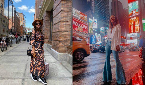 Lourdes durante su estadía en Nueva York