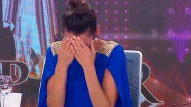 Pampita rompió en llanto en vivo en Showmatch por la muerte de un familiar