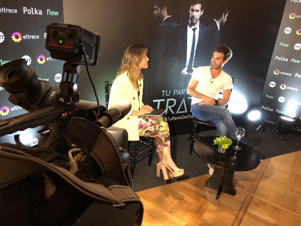 Nicolás Cabré anticipa que le gustaría filmar una película romántica con Laurita Fernández