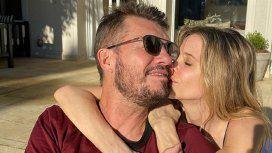 Tinelli y Guille Valdés, enamorados: tarde de mate y mimos al sol
