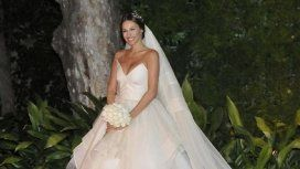 El vestido de boda de Pampita: ¿imitó a una actriz de Glee?