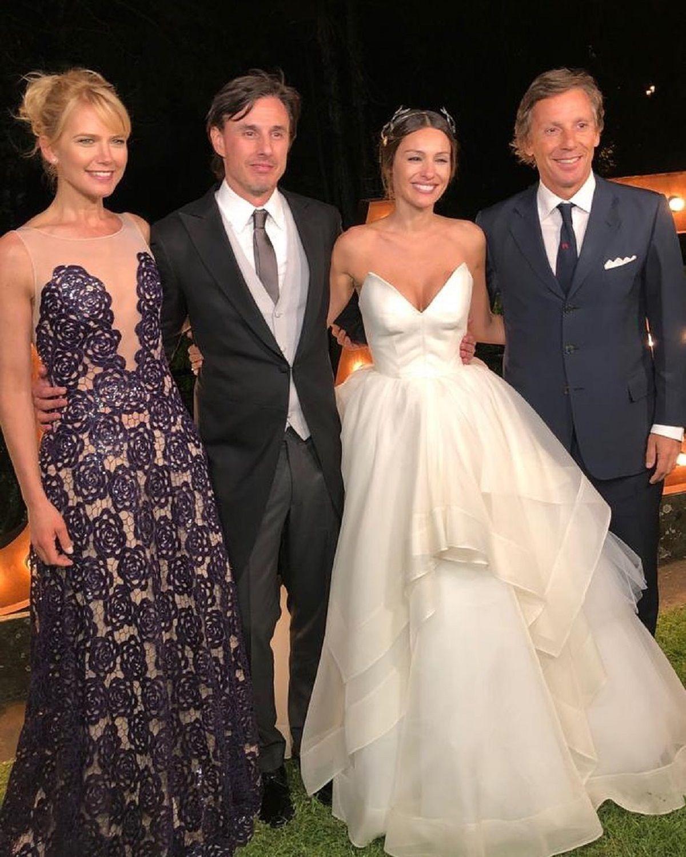 El look de los famosos en la boda de Pampita y Roberto García Moritán