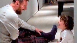 Anto Roccuzzo capturó un momento muy especial entre Messi y su hijo Ciro