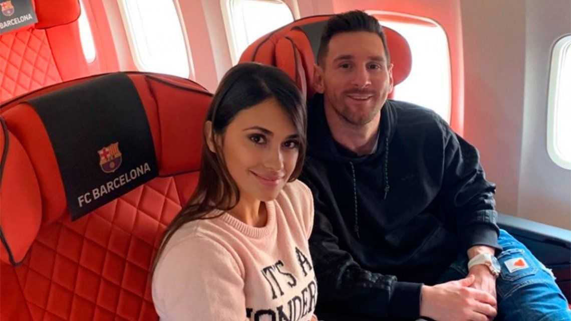 Así llegaron Lionel Messi y Antonela Roccuzzo a París para la gala del Balón de Oro