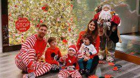 Las fotos de Navidad de Lionel Messi y Antonela Roccuzzo con Thiago