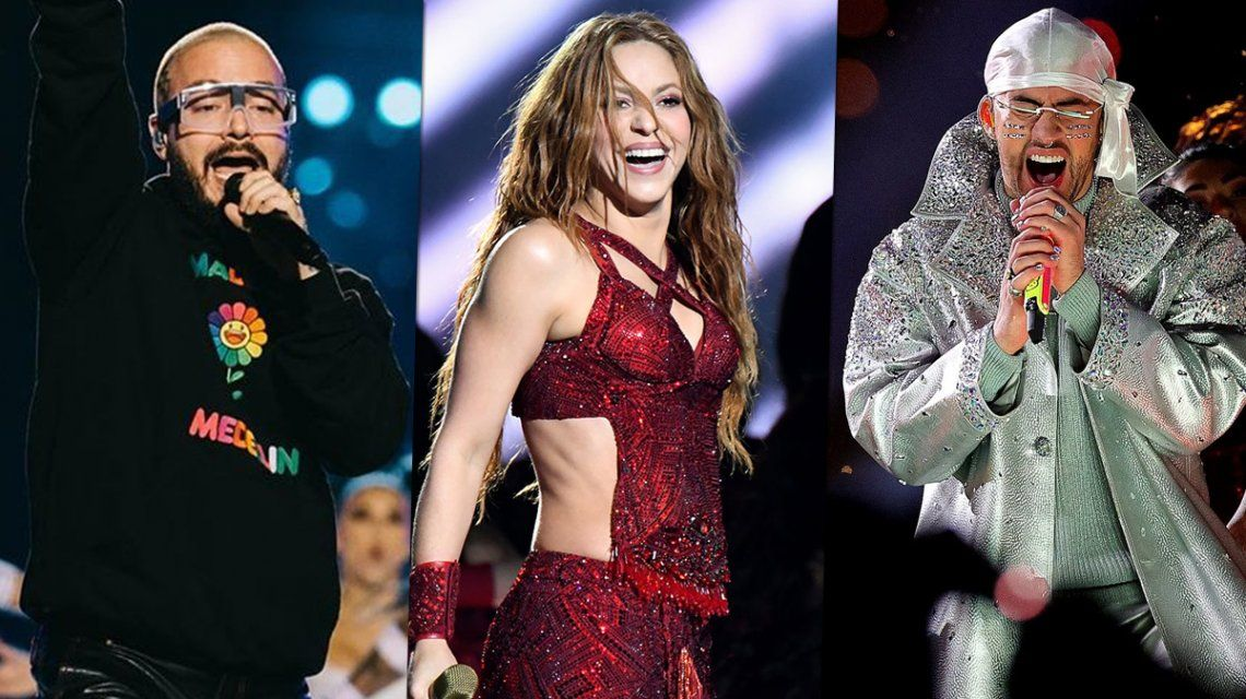 La interna de Shakira, Bad Bunny y J Balvin después del Super Bowl