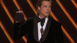 Brad Pitt le dedicó a sus hijos el premio a mejor actor de reparto en los Oscar 2020