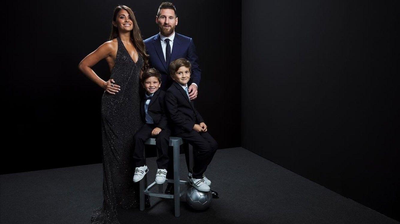 El gesto de Thiago en la foto de San Valentín de Antonela Roccuzzo y Lionel Messi