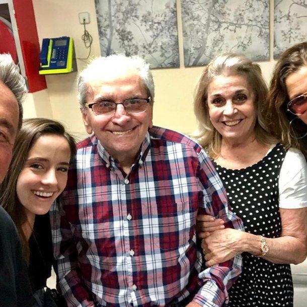 Ricardo Montaner, su hija Evaluna, su primo Carlitos, su esposa Marlene Rodríguez Miranda y su yerno Camilo Echeverry