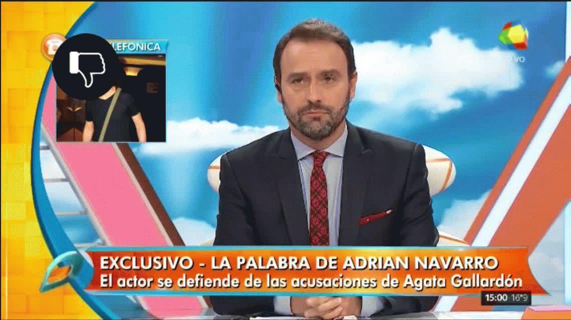 Adrián Navarro, acusado de extorsionador por su ex