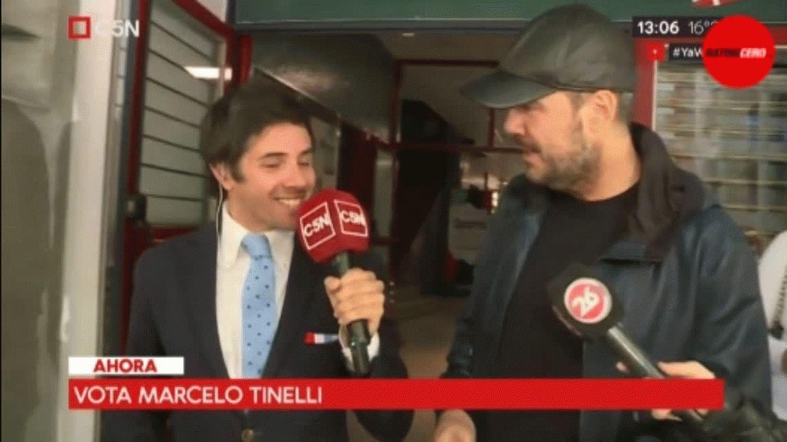 Votó Tinelli e hizo un fuerte reclamo: Esperemos que los resultados estén antes