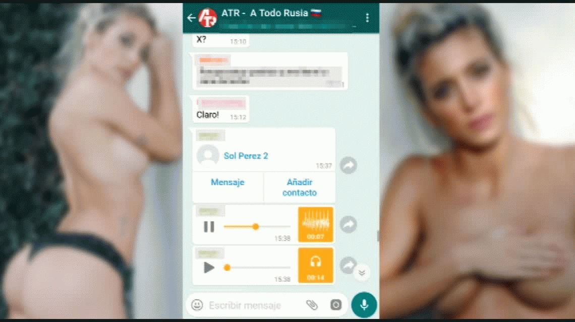 Sol Pérez estalló en WhatsApp por la viralización de su teléfono