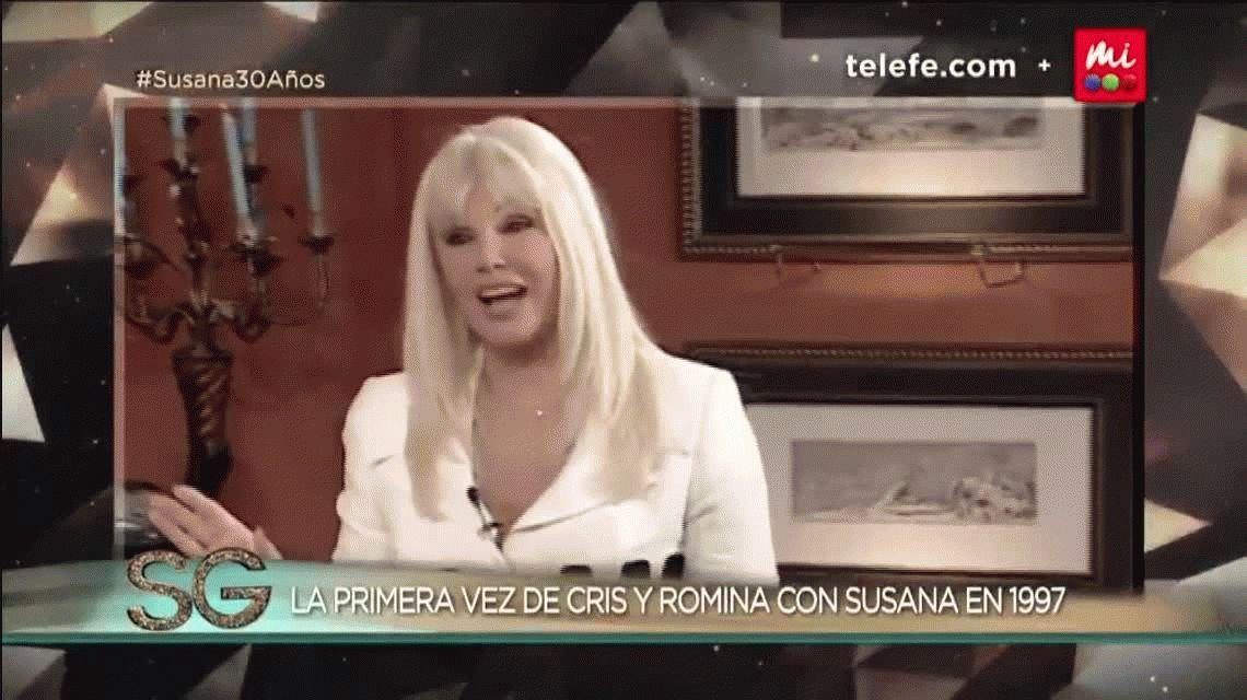Susana Giménez y un momento emotivo con Cris Morena: los sueños de Romina Yan