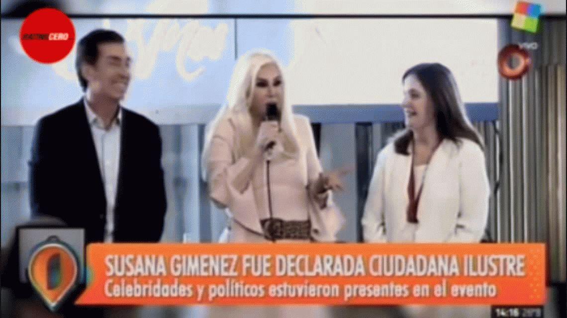 Susana Giménez derrapó contra los piquetes: Hubiera traído un carro con agua y los mojaba