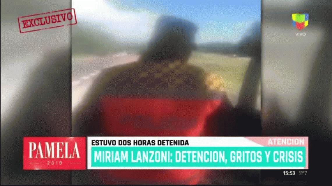 VIDEO: Así fue el incidente de Miriam Lanzoni con la policía en Villa Carlos Paz
