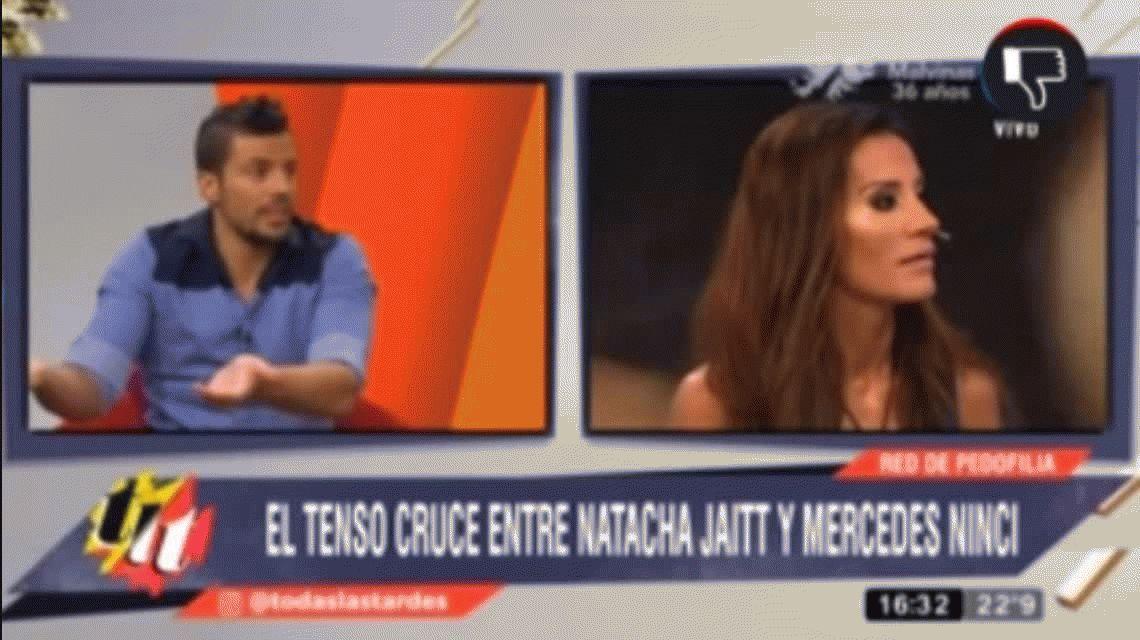 Mercedes Ninci y el hermano de Jaitt se pelearon en vivo y la periodista se fue del programa