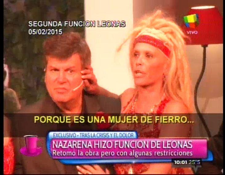 En medio de lágrimas, el emotivo discurso de Nazarena Vélez en la función de Leonas