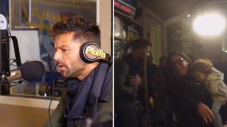 Ricky Martin entró en shock por una broma pesada en un programa radial