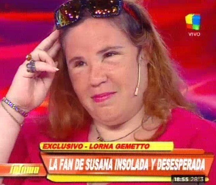 El drama de Lorna, la fan de Susana: quedó arruinada por el sol