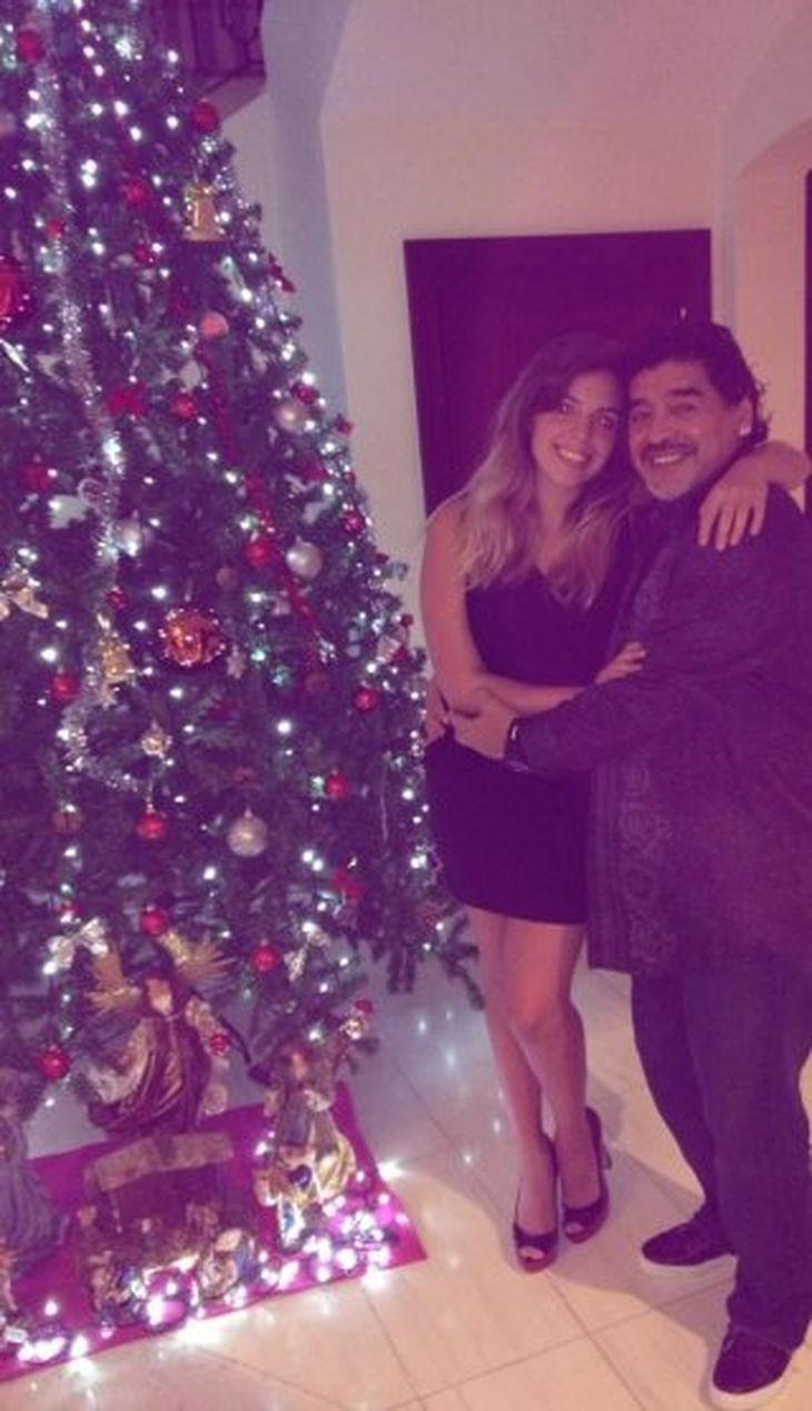 Parte de los Maradona celebraron la Navidad en la ciudad de Dubai