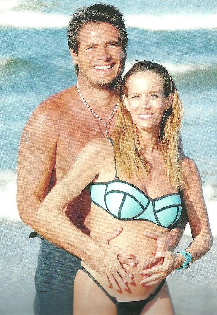 Guillermo Andino y su mujer, embarazada de siete meses: Ramón ya tiene su carnet de socio de Racing