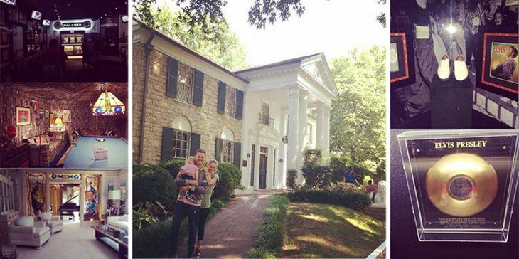 Fanáticos: La mansión de Elvis Presley por dentro, según Luisana Lopilato y Michael Bublé